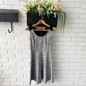 Old Navy Grey Skater Style Dress with Zipper